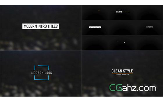 时尚文字标题动画展示AE模板