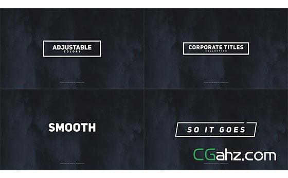 公司企业商务文字标题动画展示AE模