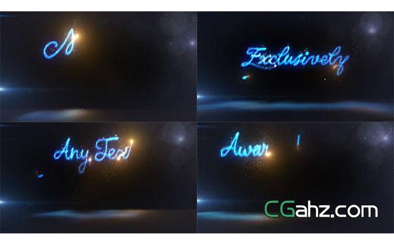 神奇魔法发光手写文字创建器AE模板