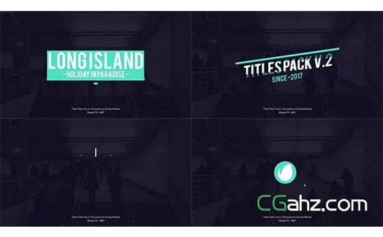 有设计感的文字标题排版动画素材包