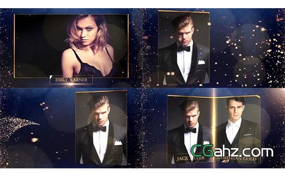 流光溢彩的颁奖晚会整体包装AE模板