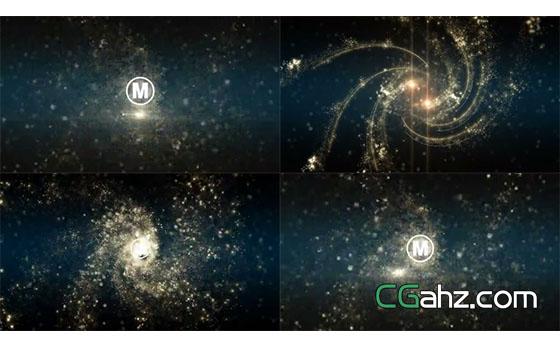 螺旋突然静止并消散为粒子的特效AE模板