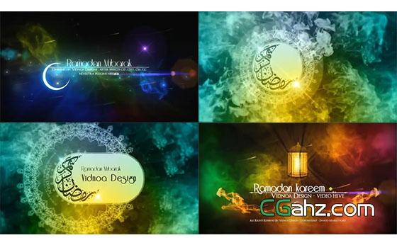 阿拉伯异域风情烟雾水墨粒子字幕展示AE模板