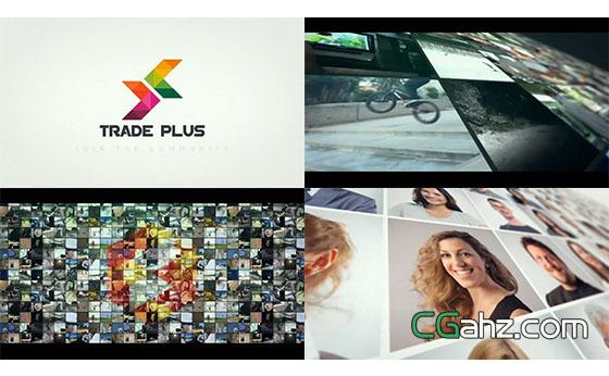 照片视频墙Logo展示AE模板