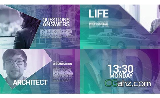 公司活动商务项目宣传片头展示AE模板