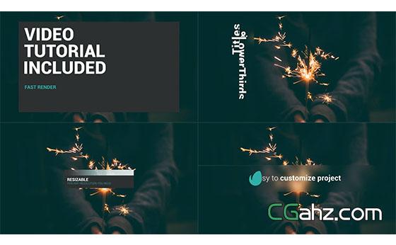 商务滑动简洁文字标题动画展示AE模板
