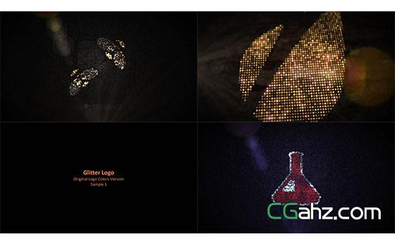 钻石闪烁Logo展示AE模板