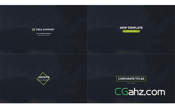 公司商务简洁文字标题动画展示AE模板