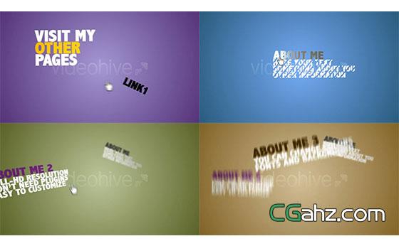 鼠标手文字排版片头动画展示AE模板