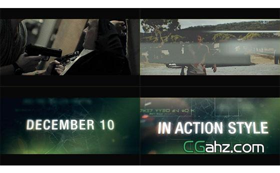 动作电影宣传片预告片展示AE模板
