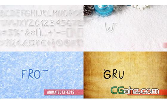 9种不同风格的手写文字动画AE模板