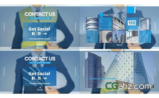 未来科技风企业商务架构宣传片AE模板