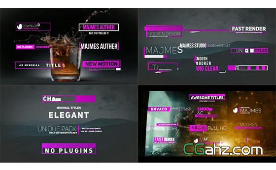 简约风格文字标题排版动画AE模板