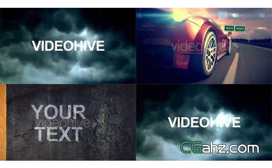 象征速度与激情的赛车主题片头AE模板