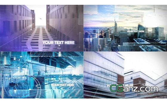 高科技图片展示开场AE模板