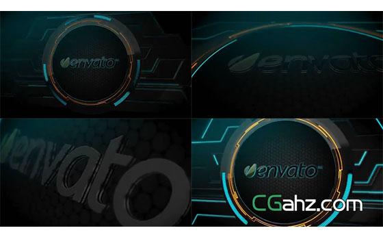 科技Logo片头展示AE模板