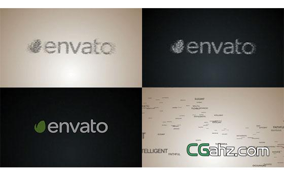 图片文字汇聚成Logo展示AE模板