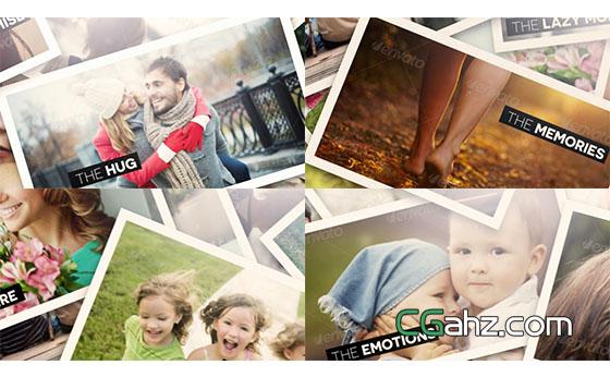 旅游回忆照片展示AE模板