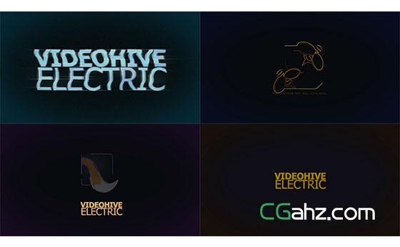 科技感描边字幕展示AE模板