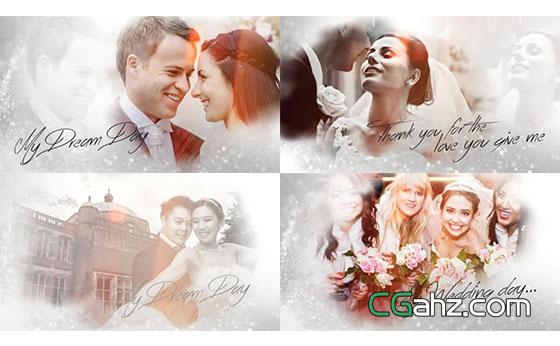 典雅简洁浪漫婚礼相册展示AE模板