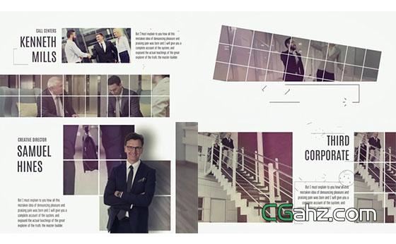 干净明亮白色风格企业宣传片AE模板