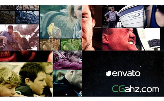犯罪侦查风格图片视频展示AE模板