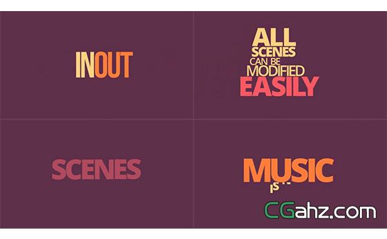 动画文字标题运动排版展示AE模板
