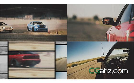 赛车体育视频宣传包装片头展示AE模板