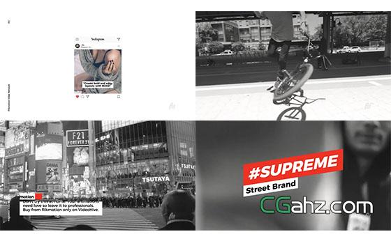 文字标题人名字幕条动画展示AE模板