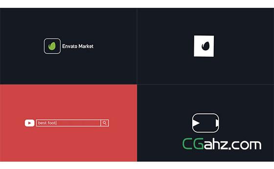 网络Logo宣传片头动画展示AE模板