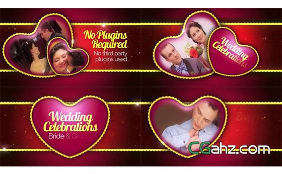 婚礼庆典仪式图文展示开场片头AE模板