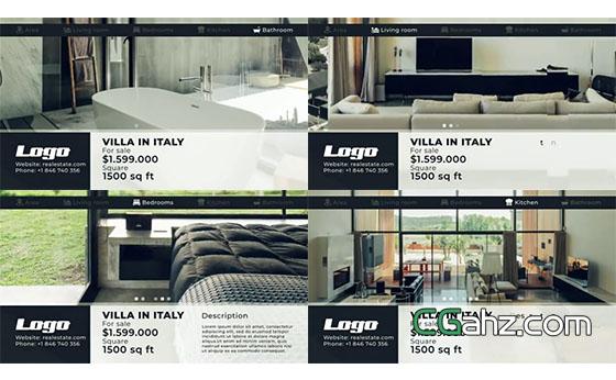 简洁直观又实用的房地产视频宣传广告AE模板