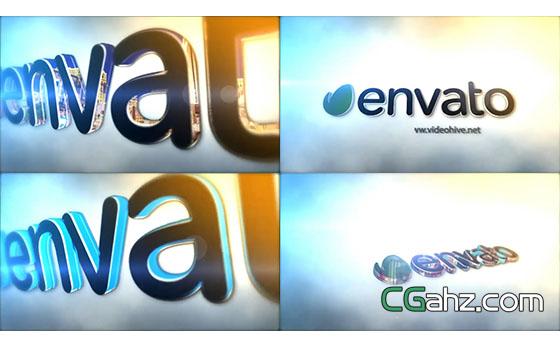 震撼的三维Logo展示片头展示AE模板