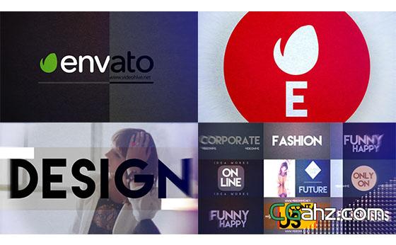 时尚繁杂Logo图片展示AE模板