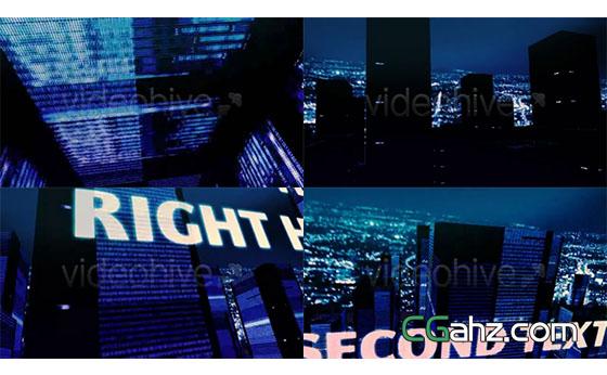 数字城市楼房展示AE模板