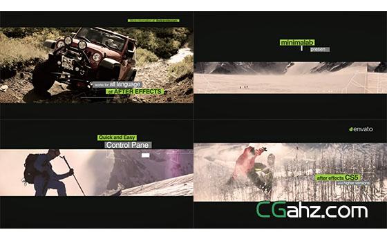 旅游运动路线视频开场展示AE模板