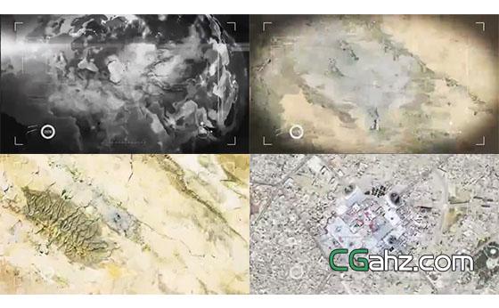 从太空俯冲到地球地面的视觉特效AE模板