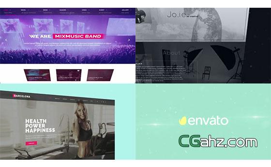 大气简约的网页设计,网站宣传片AE模板