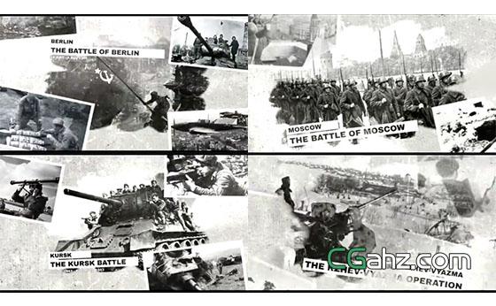 历史主题幻灯片展示AE模板