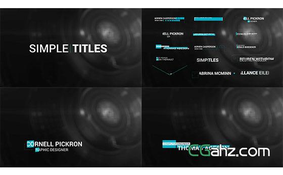 线条图形文字标题动画展示AE模板