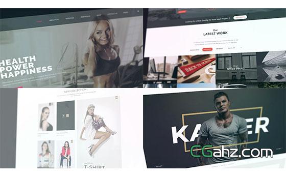 节奏感大气网站宣传片头展示AE模板