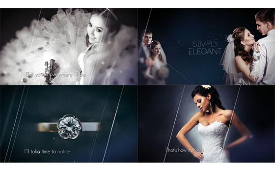 简洁优雅婚礼视频图片展示