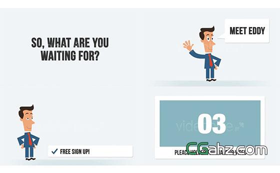 卡通人物商品介绍宣传片头展示AE模板