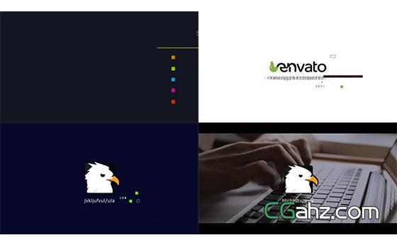 科技感图形Logo动画展示AE模板
