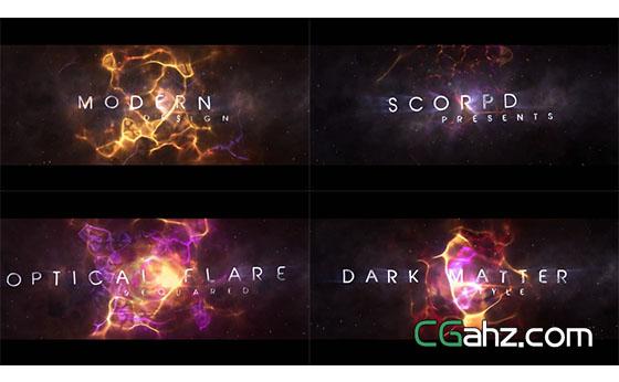 大气游戏电影文字标题宣传片展示AE模板