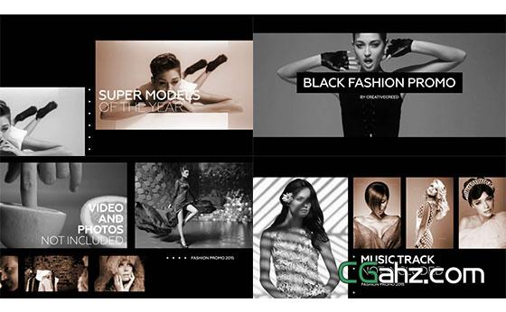 黑白时尚视频宣传片栏目包装展示AE模板