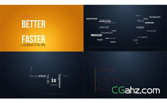 动态文字标题动画展示AE模板