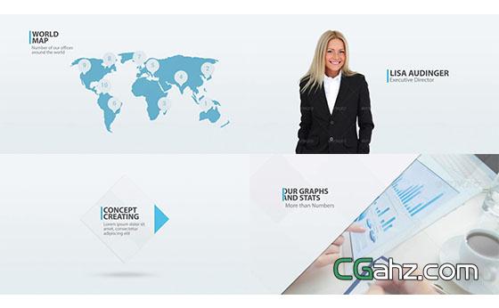 公司企业商务视频片头包装展示AE模板