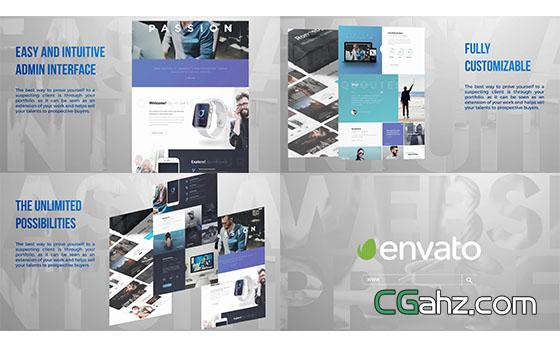 公司商品网站宣传介绍展示AE模板