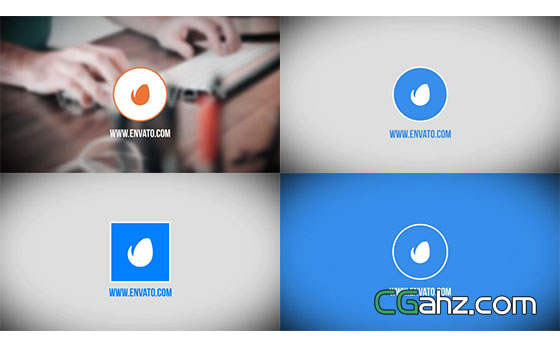 简洁的扁平化Logo动画展示AE模板